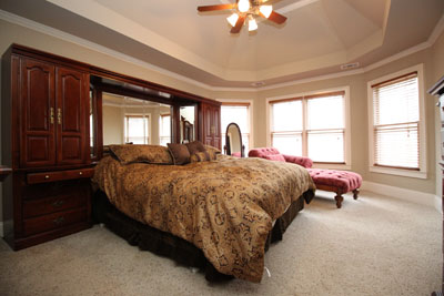 bedroom with ultra wide angle lens
